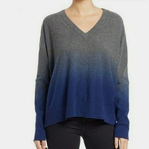 Pure DKNY ombre V neck sweater
